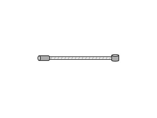 Asista Universal Bremsekabel Girkabel 205cm sølv